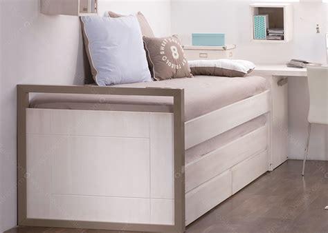 Lit Compact lit compact avec tiroir et rangement design scandinave