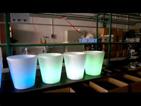 led flower pots led pots illuminated pots youtube