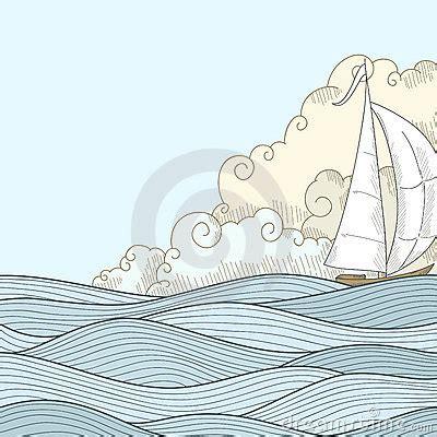 how to draw a boat in the sea drawn sea sailor boat pencil and in color drawn sea