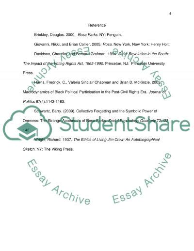 research paper on rosa parks rosa parks research paper thesis