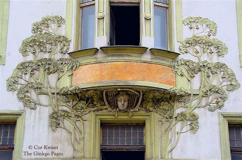 Art Deco Home ginkgo biloba and art nouveau hotel central prague