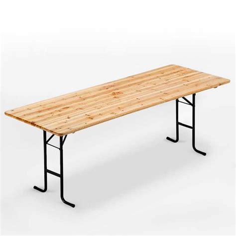 tavoli per feste tavolo in legno con gambe in ferro 220x80 per giardino