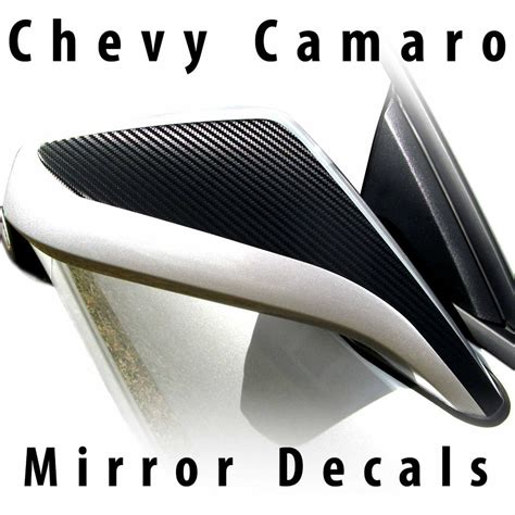 Stiker Ss 2012 chevy camaro mirror accent decals pre cut 2010 2011 2012 2013 2014 2015 lt ss rs ebay
