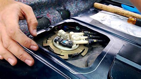 cutting fuel pump access panel  removing fuel pump