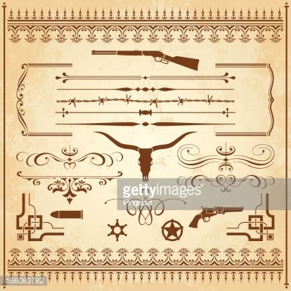 wild west vector art and graphics getty images wild west ornaments vector art getty images