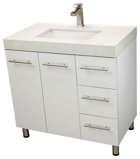 free standing modern bathroom cabinet windbay 36 quot free standing bathroom vanities sink white