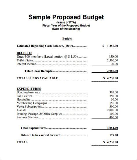 budget proposal template   sample