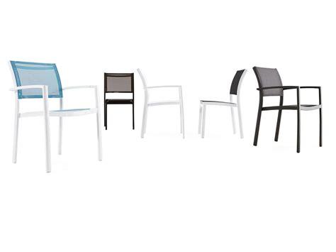 sedie in alluminio per esterni sedia in alluminio tessuto traforato batyline per