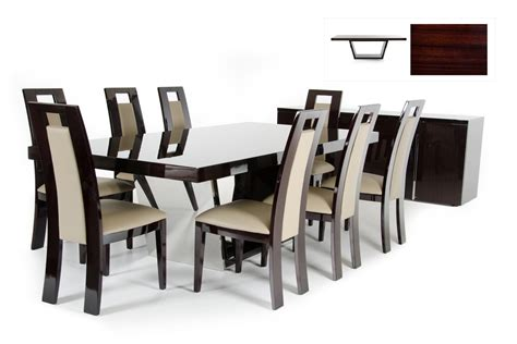 types of dining room chairs modrest christa modern ebony high gloss dining table