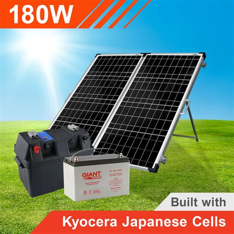 complete solar power kits for homes 180w complete portable solar kit with battery kyocera japanese cells
