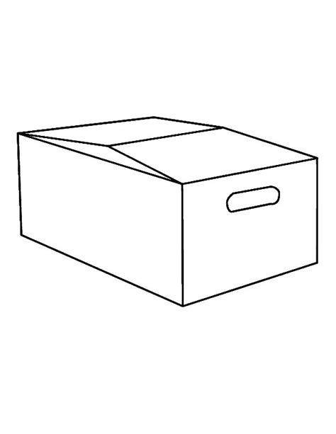 cardboard box coloring pages coloring pages