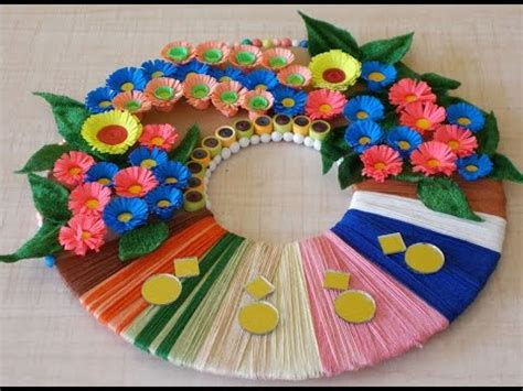 craft work for home decoration diy room decor diy wreath for home decoration winter crafts