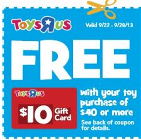 Toys R Us Discount Gift Card - toys r us deal 10 gift card with 40 toy purchase deal idea southern savers