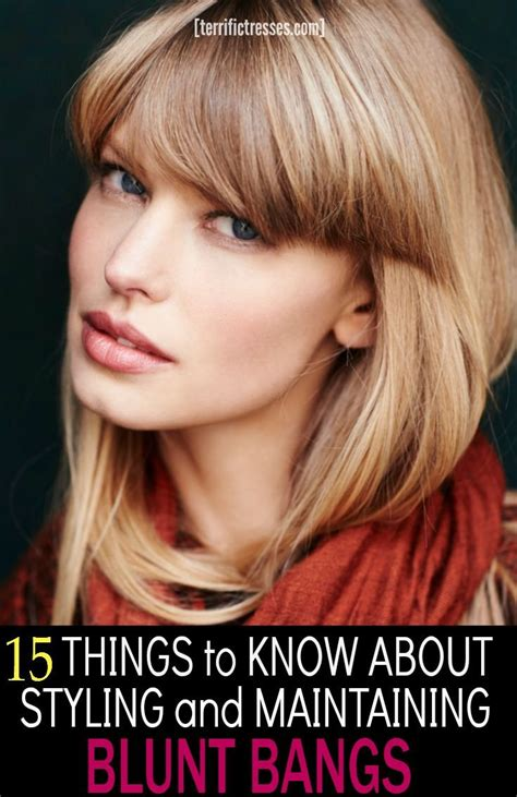 tools and tips for maintaining a long bob hairstyle at home 17 best ideas about blunt bangs on pinterest short hair