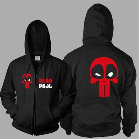 Zipper Marvel Jaket Hoodie popular deadpool hoodie buy cheap deadpool hoodie lots from china deadpool hoodie suppliers on