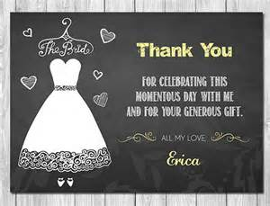 thank you letter to for bridal shower 17 bridal shower thank you cards free printable psd