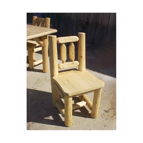 Rustic White Dining Chairs White Cedar Log Dining Chairs