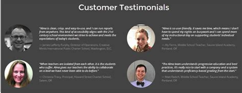 Testimonials From Lovely Customers 2 11 eye catching website content exles that use connections to build authority capterra