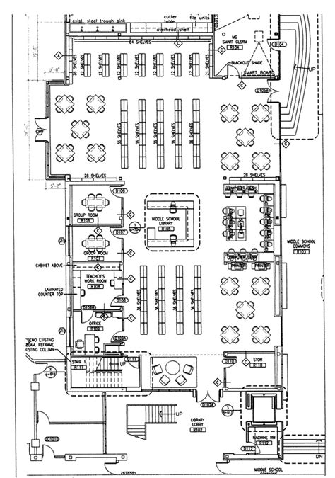 school library floor plan middle school classroom layout figure 1 1 utopia