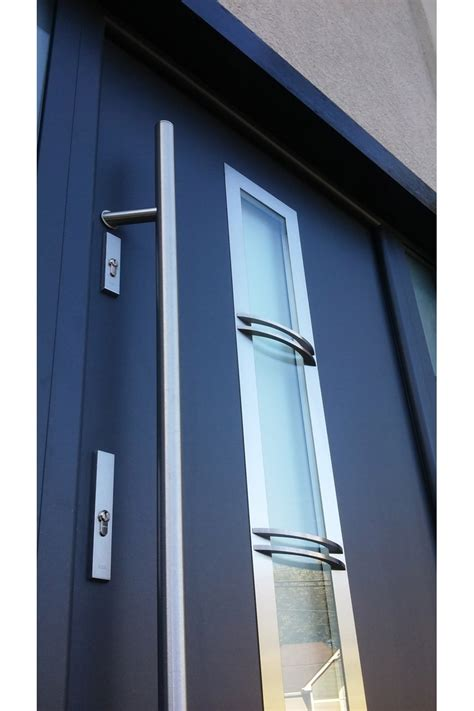 Quot Madrid Quot Stainless Steel Entry Door With Glass Stainless Steel Exterior Door