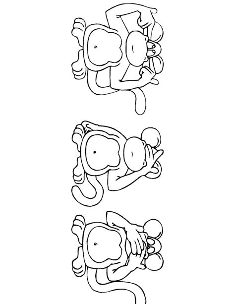 simple monkey coloring pages monkey coloring pages cartoon monkey coloring pages made