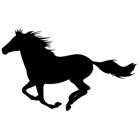 Running Horse Silhouette Decal Top Pet Gifts