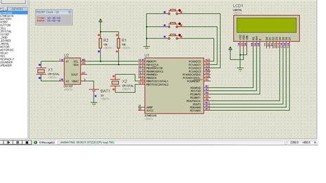 cara membuat jam digital dengan rtc jam digital lcd 16x2 dengan rtc cvavr asa group