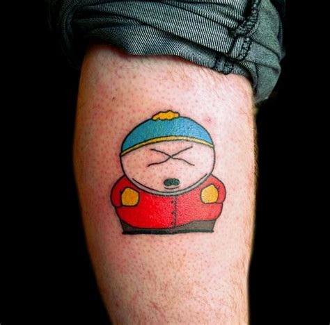 south park tattoo cartman from south park calf i ll do what i want