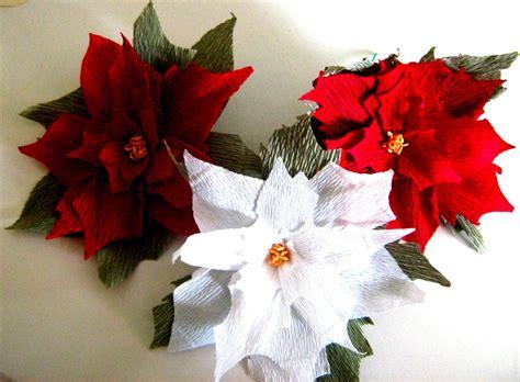 crepe paper giant poinsettia red white flower bakdrop