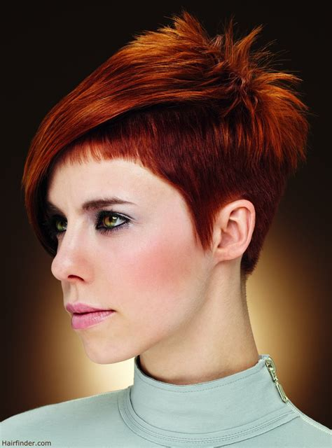Short women's haircut with clipped sides   Close to the scalp