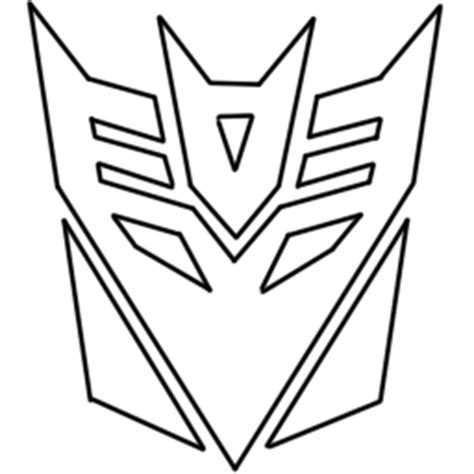 transformers logo coloring page transformers decepticon logo coloring pages www pixshark