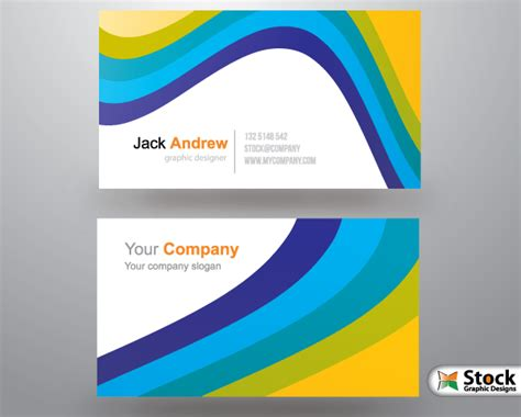 free corporate business card templates vector