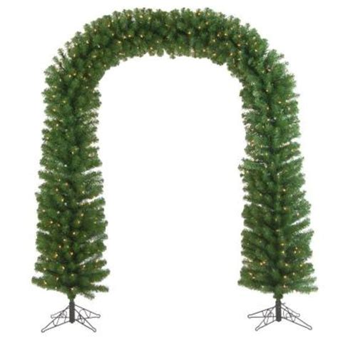 sterling 7 5 ft pre lit pine artificial tree arch with