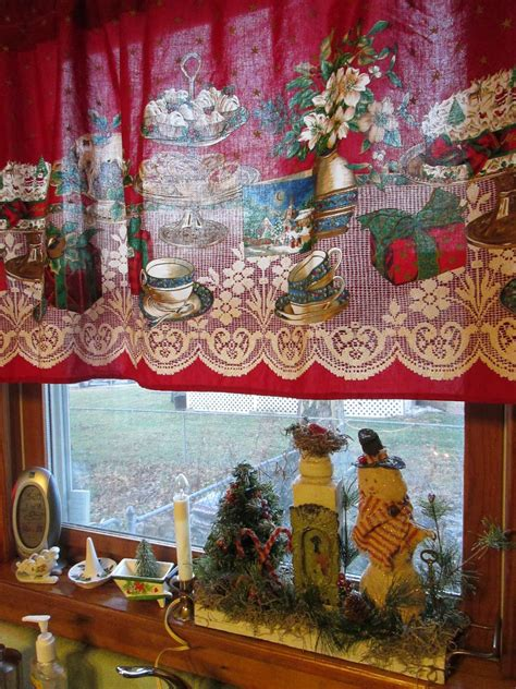 christmas curtains for kitchen a sentimental life decorating always starts in the