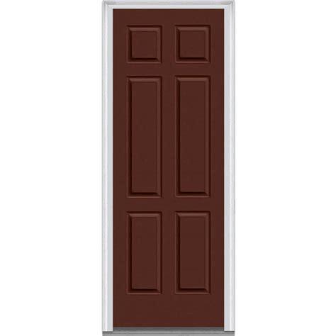Exterior Door Panel Milliken Millwork 33 5 In X 87 75 In 6 Panel Painted Majestic Steel Exterior Door Z009674l