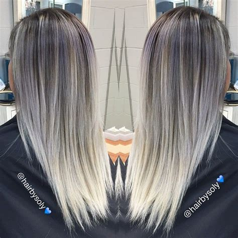 hairstyles umbre platinum 722 best ombre balayage images on pinterest hair colors