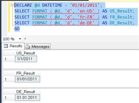 format date mysql timest sql server denali string function format a quick