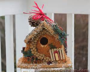 red house garden how to make an edible birdhouse