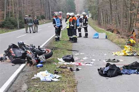 Zug Motorradunfall by Schwerer Motorrad Unfall Bei Glonn Bayern
