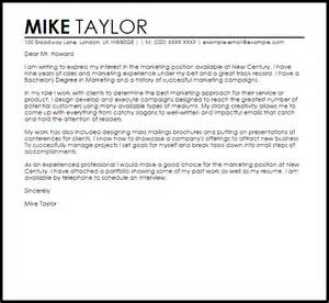marketing cover letter exles uk cover letter