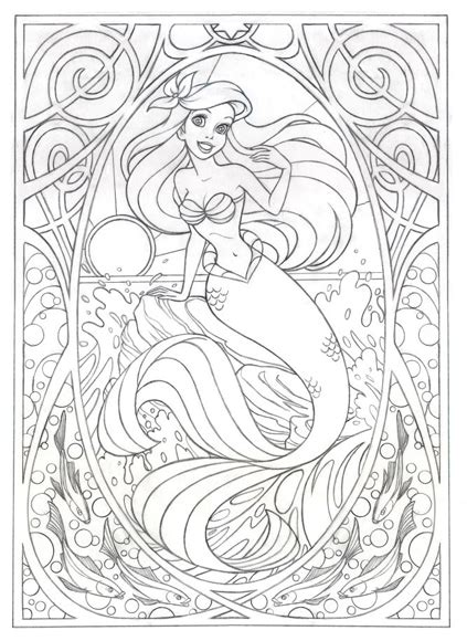 Coloring Pages Adults Disney | coloring page for later or this gt gt gt art nouveau