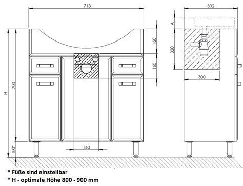 schublade 75 cm badm 246 bel waschbecken 75 cm waschtisch unterschrank