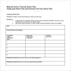 5 Year Plan Template by Five Year Career Plan Template Plan Template