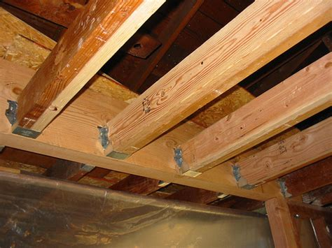 How To Build Ceiling Joists by New Ceiling Joists Flickr Photo