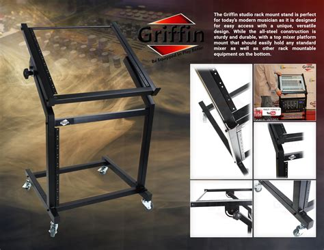 Rolling Equipment Rack by Rolling Rack Mount Stand Studio Equipment Mixer