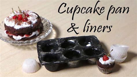 dollhouse ucb miniature cupcake pan cupcake liners polymer clay