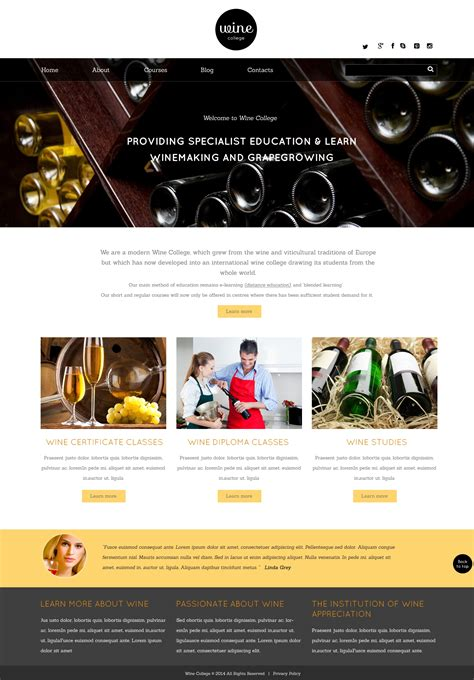 Wine Responsive Website Template 49020 Free Wine Website Templates