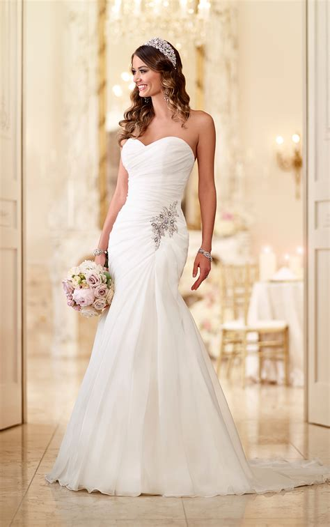 Brautkleider Organza by Sparkly Organza Strapless Wedding Gown Stella York
