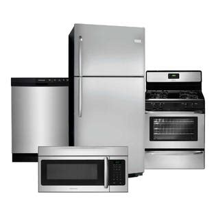 kitchen appliance suites stainless steel frigidaire frigidaire 4 piece kitchen suite stainless