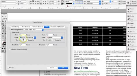 indesign tutorial on tables indesign tutorial adding tables and table styles youtube